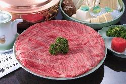 黒毛和牛の美味しさを存分に堪能できるしゅぶしゃぶコース