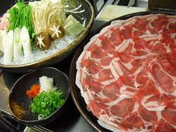 ボリュ-ムある薩摩黒豚しゃぶ鍋。お二人様より。