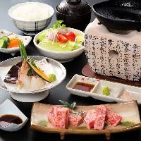 ◆夜の人気◆ 夜席限定メニュー「大和牛鉄板焼き御膳」