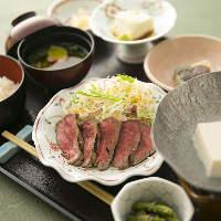 和牛ステーキと京食材を存分に堪能「萩膳」3,000円(税抜)