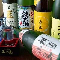 伏見の地酒は常時60種類以上ご用意。飲み放題でも楽しめます◎