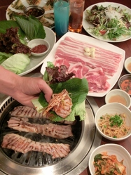 超お得なサムギョプサル食べ放題プランは大注目です!!