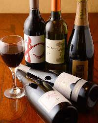 地酒の他ワインも充実。ワイン好きのスタッフが厳選しています!