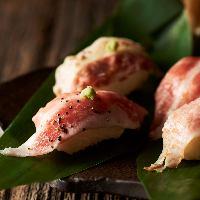 炙り寿司をはじめ、他では味わえないイベリコ豚料理の数々
