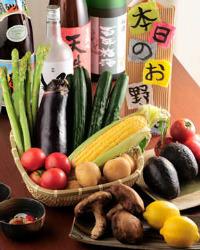 彩り豊かで栄養たっぷりの野菜 野菜料理に力を入れています