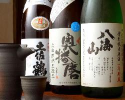 店主厳選!日本酒も おすすめです♪