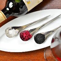 熟成肉を引き立てる 自家製のワイン塩