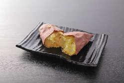 甘みが強く瑞々しい、ほくほくのお芋はデザートに最適♪
