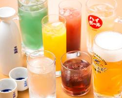 【お飲み物】 各種リーズナブルな価格でご提供しています!