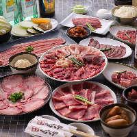 人気の食べ放題コースは、1980円〜。税別。