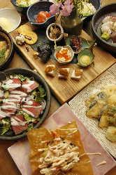 カジュアル大皿コースが今大人気です。ボリュームある料理です!