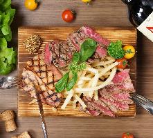 精肉卸の目利きで厳選!黒毛和牛など6種のお肉を堪能できる