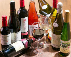 [ワイン] 日本酒以外にも、ワインも種類豊富にご用意◎