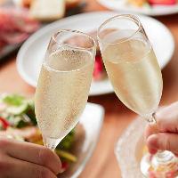 飲み放題ではスパークリングワインも飲み放題です