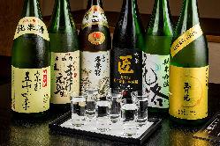 京都の日本酒6種飲み比べ!他にも多数日本酒ご用意してます。