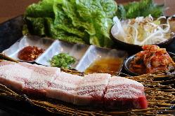 イベリコ豚で食べるサムギョプサル!!