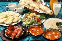 本格スパイスを使ったインド料理をどうぞ