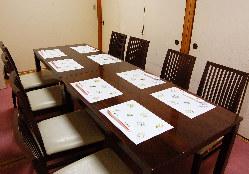 お客様への負担も少ない、畳テーブル個室もご用意しております。