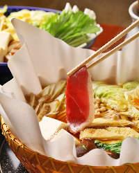 鴨の旨み溢れる鍋は絶品! 特製出汁との相性が抜群です