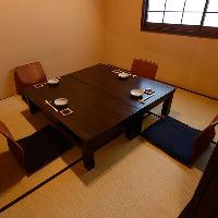落ち着いた雰囲気の個室でごゆっくりとお食事をお楽しみください