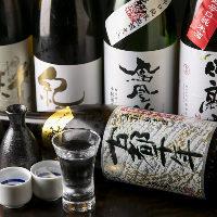 〈厳選日本酒〉 季節に応じて、常に新しいものをラインナップ!