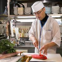 料理人達の真心こもった 新鮮な海鮮料理をお楽しみ下さい