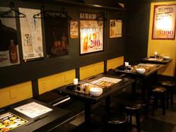 横に一列のテーブル4~20名様宴会OK!!飲み放題宴会コースあり