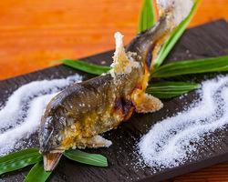 新鮮な鮎を絶妙な塩加減で。