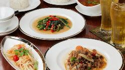 【宴会はコースで】 トムヤムクンなど、定番タイ料理が揃います