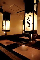 様々なシーンで 落ち着いた空間でゆったりとお食事を愉しんで!