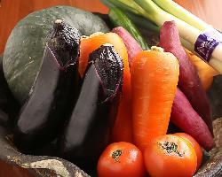 【新鮮野菜】 その季節ならではの野菜を用いた逸品をどうぞ