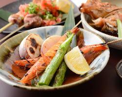 毎日仕入れる新鮮な野菜や魚たち
