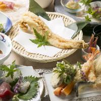 本格天ぷらや逸品料理が楽しめるコースは4,000円(税抜)~