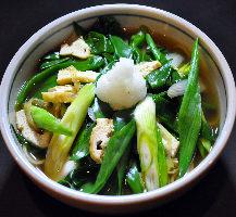 人気の京野菜 九条ねぎそば 970円(税込)