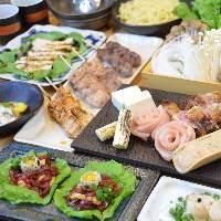 1番人気の極コース! 魚介・馬肉・鶏創作料理・炭火焼鳥・鍋
