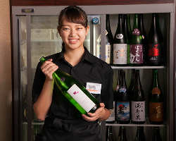 種類豊富な日本酒。常時70種類以上!47都道府県勢揃い!