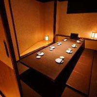 個室席完備◎落ち着いた空間で自慢の料理とお酒をご堪能下さい。