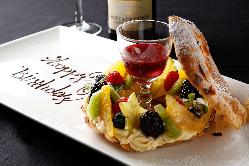 【記念日・誕生日】 オリジナルケーキにメッセージを添えて