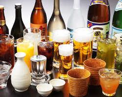 [100種以上充実飲み放題] 3,500円以上のコースは生ビールも◎