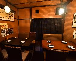 合コン、接待などに最適なテーブル個室!最大8名様迄