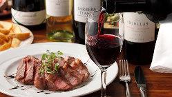 種類豊富なワインは、自慢の地中海料理との相性抜群です!