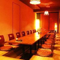 個室は6名様から20名様までご利用頂けます。