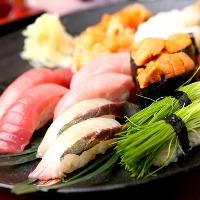 新鮮なお刺身とお寿司、 豊富な一品料理をお楽しみ下さい!