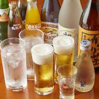 「得得コース」は、ビール、ワインなど27種のドリンクが飲み放題