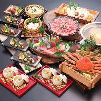 「ふぐ」や「かに」、鍋を楽しめるご宴会コース5,000円(税込)〜