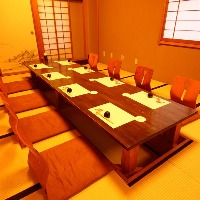 掘りごたつ席やお座敷、テーブル席など様々な個室をご用意