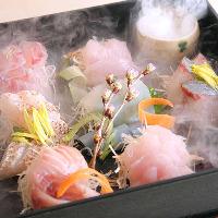 新潟を始め全国からの厳選鮮魚は 焼き物、煮物、お造りでどうぞ