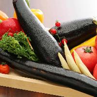 季節の新鮮な野菜を使用します。 職人が心をこめて一品料理に