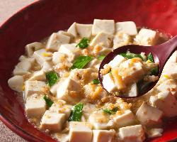 ◆肉を使わず干し貝柱の旨味ベースの当店オリジナル白麻婆豆腐