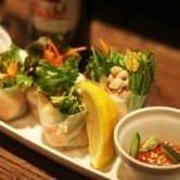 ベトナム鶏肉と海老の生春巻です☆